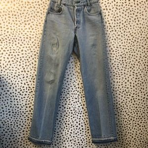 Redone levis very destroyed distressed vintage